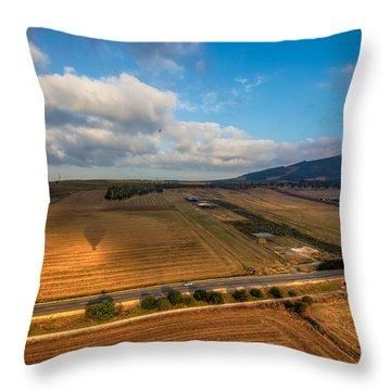 View From Hot Air Balloon Throw Pillow