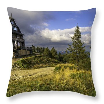 View From Jaworzyna Mountain In Poland 1 Throw Pillow