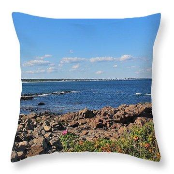 View From Marginal Way Ogunquit Maine 3 Throw Pillow