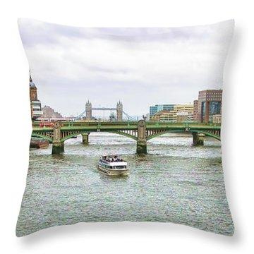 View From Millenium Bridge Throw Pillow