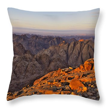 View From Mount Sinai Throw Pillow by Ivan Slosar