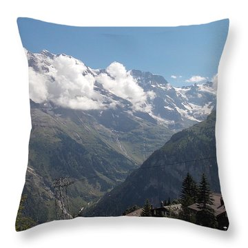 View From Murren Throw Pillow