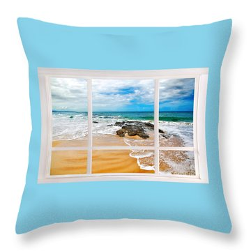 View From My Beach House Window Throw Pillow