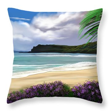 Throw Pillow featuring the digital art View From My Villa by Anthony Fishburne