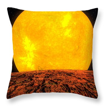 View From Planet Kepler 10b Throw Pillow by Movie Poster Prints