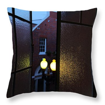 Throw Pillow featuring the photograph View From Santa Ana Apartment by Viktor Savchenko
