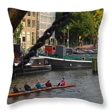 'skinny Bridge' Amsterdam Throw Pillow