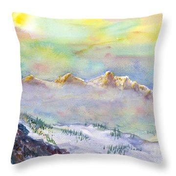 View From Snowbird Throw Pillow