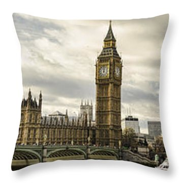 View From Southbank Throw Pillow by Heather Applegate