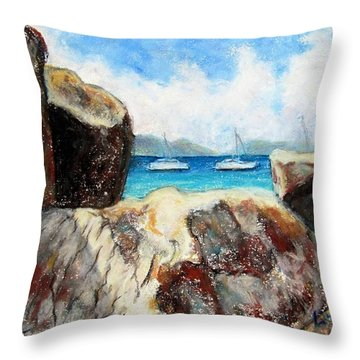 View Of Devil's Bay Throw Pillow