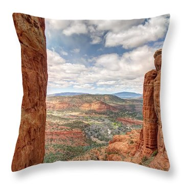 View From The Cathedral Throw Pillow by Joshua House