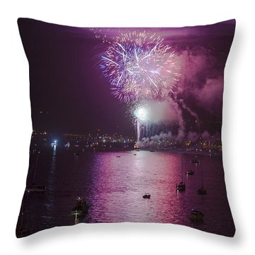 View From The Deck Throw Pillow by Scott Campbell