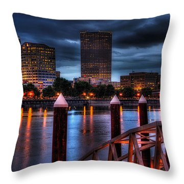 The Eastbank Throw Pillow