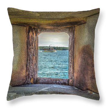 View From The Fort Throw Pillow by Jane Luxton