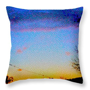 Throw Pillow featuring the photograph View From The Front Yard by Cassandra Buckley