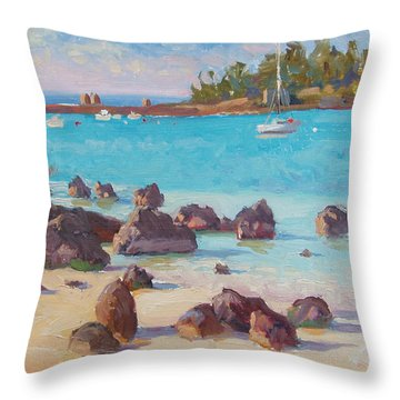 View From The Grotto Throw Pillow by Dianne Panarelli Miller