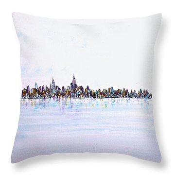 View From The Hudson Throw Pillow