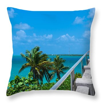 View From The Old Bahia Honda Bridge Throw Pillow