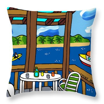 View From The Porch - Cedar Key Throw Pillow