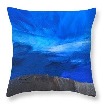 View From The Ridge Throw Pillow by Linda Bailey