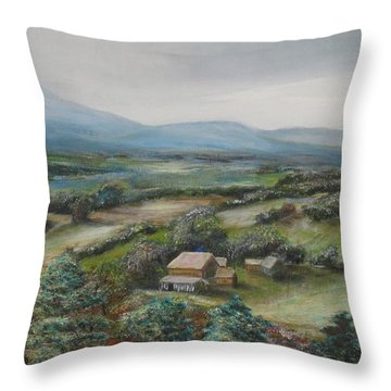 View From The Taconic Throw Pillow