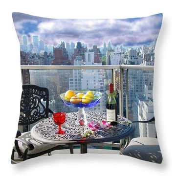 View From The Terrace Throw Pillow
