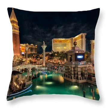 View From The Venetian Throw Pillow