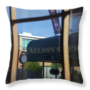 View From The Window Auburn Washington Throw Pillow