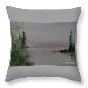 Big Bay On Lake Superior Throw Pillow