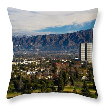 View From Universal Studios Hollywood Throw Pillow by Heidi Smith