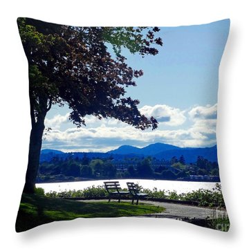 View In Victoria B C Canada Throw Pillow