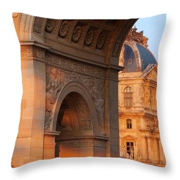 Arc De Triomphe Du Carrousel Throw Pillows