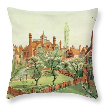 View Of Bedford Park Throw Pillow by English School