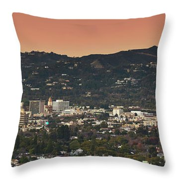 View Of Buildings In City, Beverly Throw Pillow