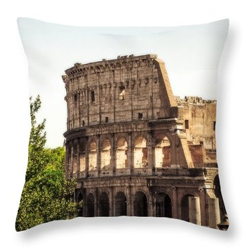 View Of Colosseum Throw Pillow