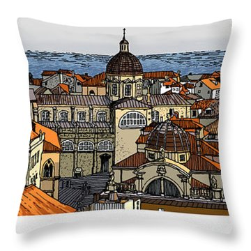View Of Dubrovnik Throw Pillow