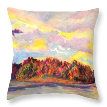 View Of Goat Island Throw Pillow