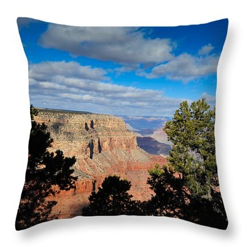 Grand Canyon Through The Junipers Throw Pillow by Bonnie Fink