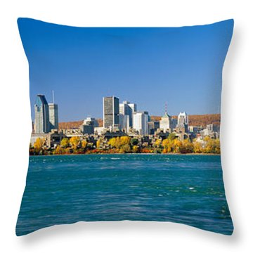 View Of Montreal Skyline And The Saint Throw Pillow