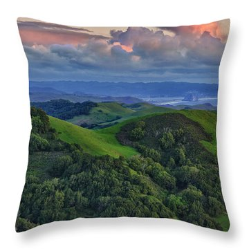 View Of Morro Bay Throw Pillow