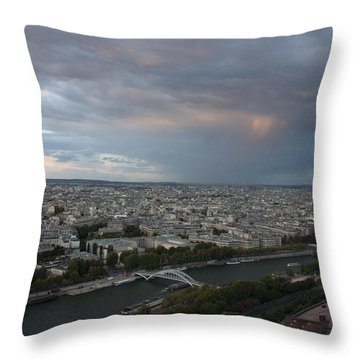 Throw Pillow featuring the photograph View Of Paris by Ivete Basso Photography