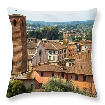 View Of Pietrasanta Throw Pillow