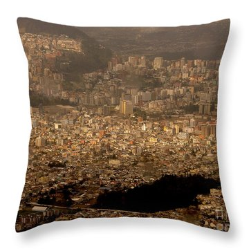 Throw Pillow featuring the photograph View Of Quito From The Teleferiqo by Eleanor Abramson