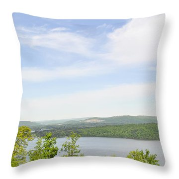 View Of The Mountains Of Alabama Throw Pillow
