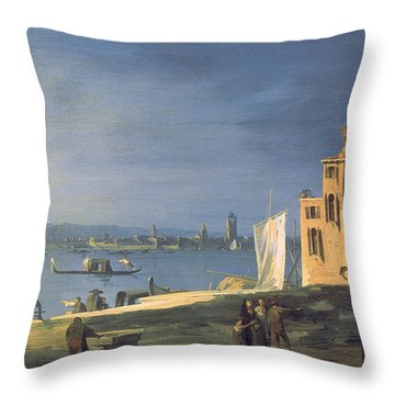 View Of Venice Throw Pillow by Canaletto