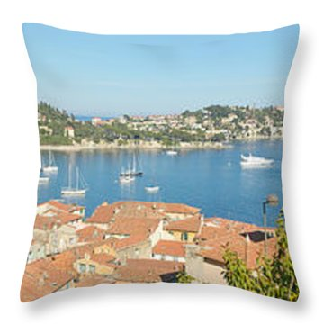 View Of Villefranche Sur Mer, French Throw Pillow