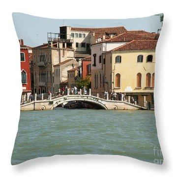 View On Venice Throw Pillow by Evgeny Pisarev