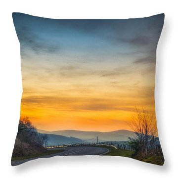 View Over Llyn Celyn Towards Bala Throw Pillow