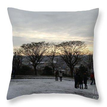 View Over Paris Throw Pillow