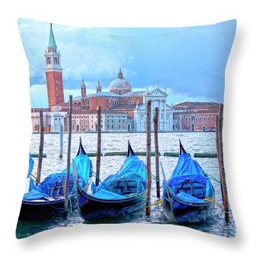 View To San Giorgio Maggiore Throw Pillow by Heiko Koehrer-Wagner
